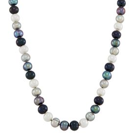 7-8 mm Tuxedo Potato Pearl Strand Necklace, 18""