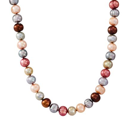 7-8 mm Gelato Potato Pearl Strand Necklace, 18