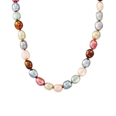 8-9 mm Gelato Rice Pearl Strand Necklace, 18