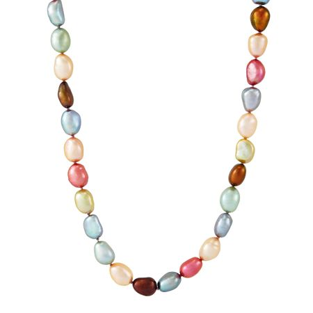 8-9 mm Gelato Rice Pearl Strand Necklace, 36