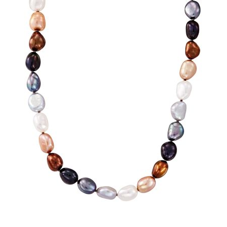 8-9 mm Lynx Rice Pearl Strand Necklace, 18