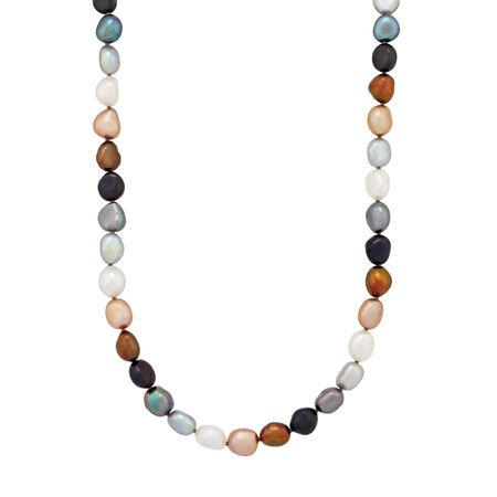 8-9 mm Lynx Rice Pearl Strand Necklace, 36