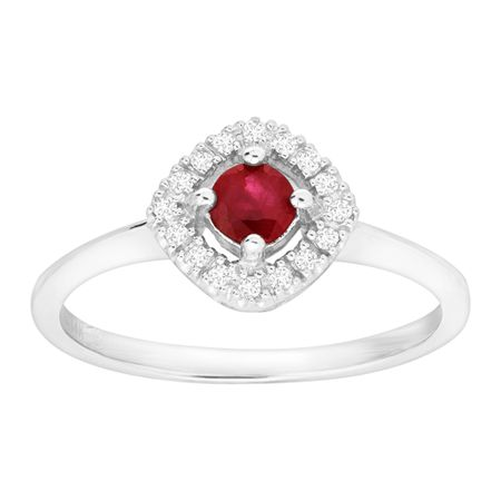1/3 ct Ruby Ring with Diamonds