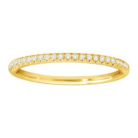 1/10 ct Diamond Wedding Band Ring, Yellow