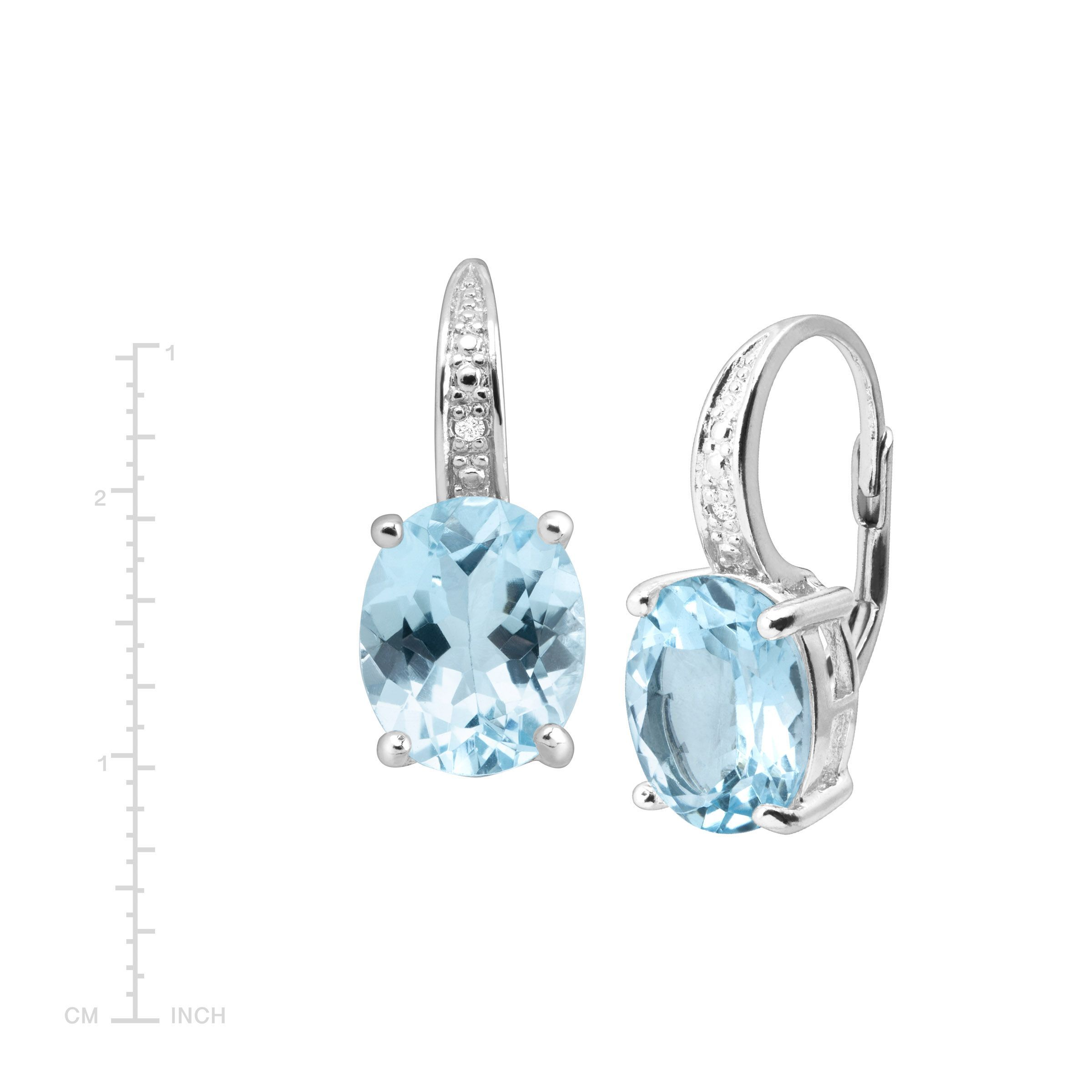 Natural-Gemstone-Drop-Earrings-with-Diamonds-in-Sterling-Silver thumbnail 14