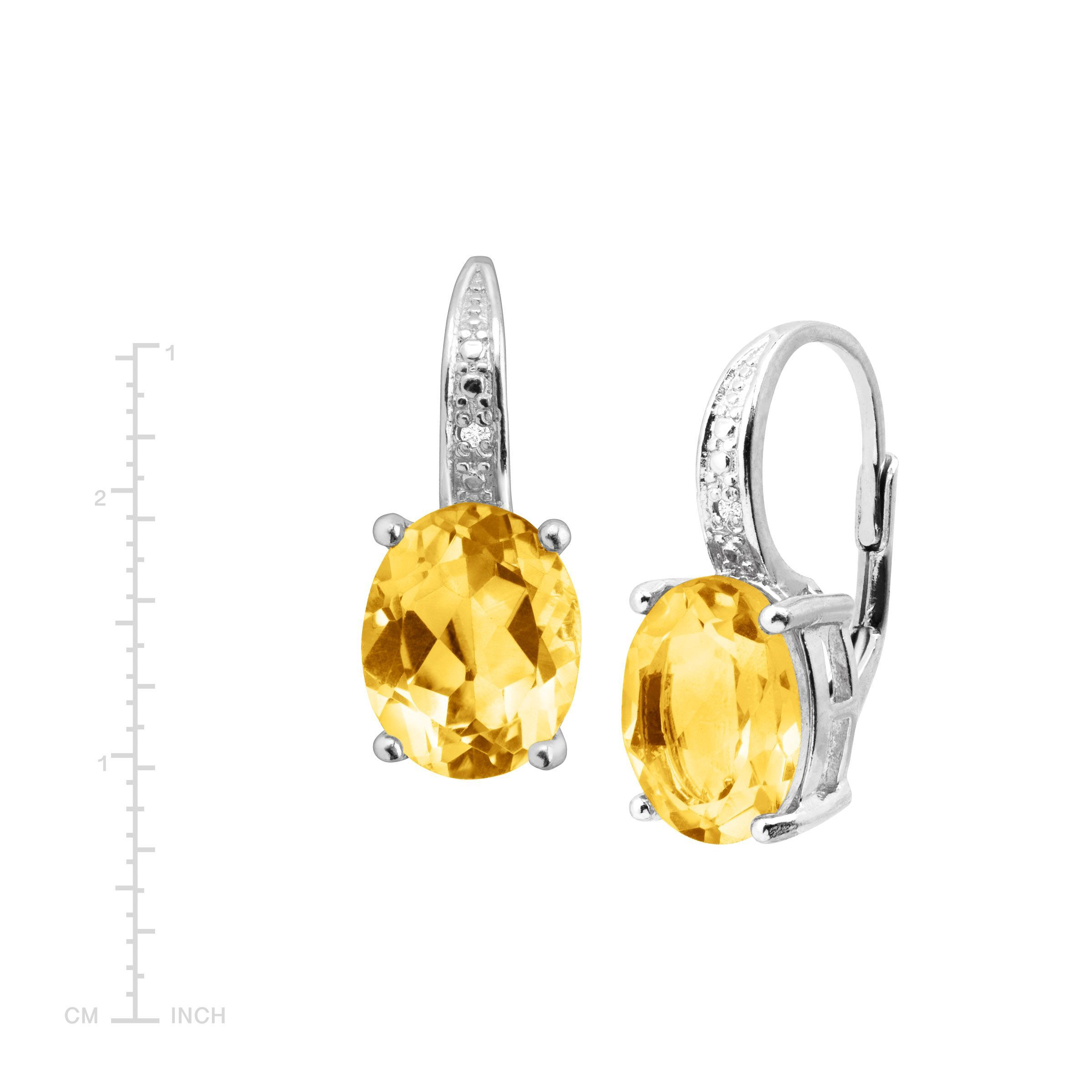 Natural-Gemstone-Drop-Earrings-with-Diamonds-in-Sterling-Silver thumbnail 20