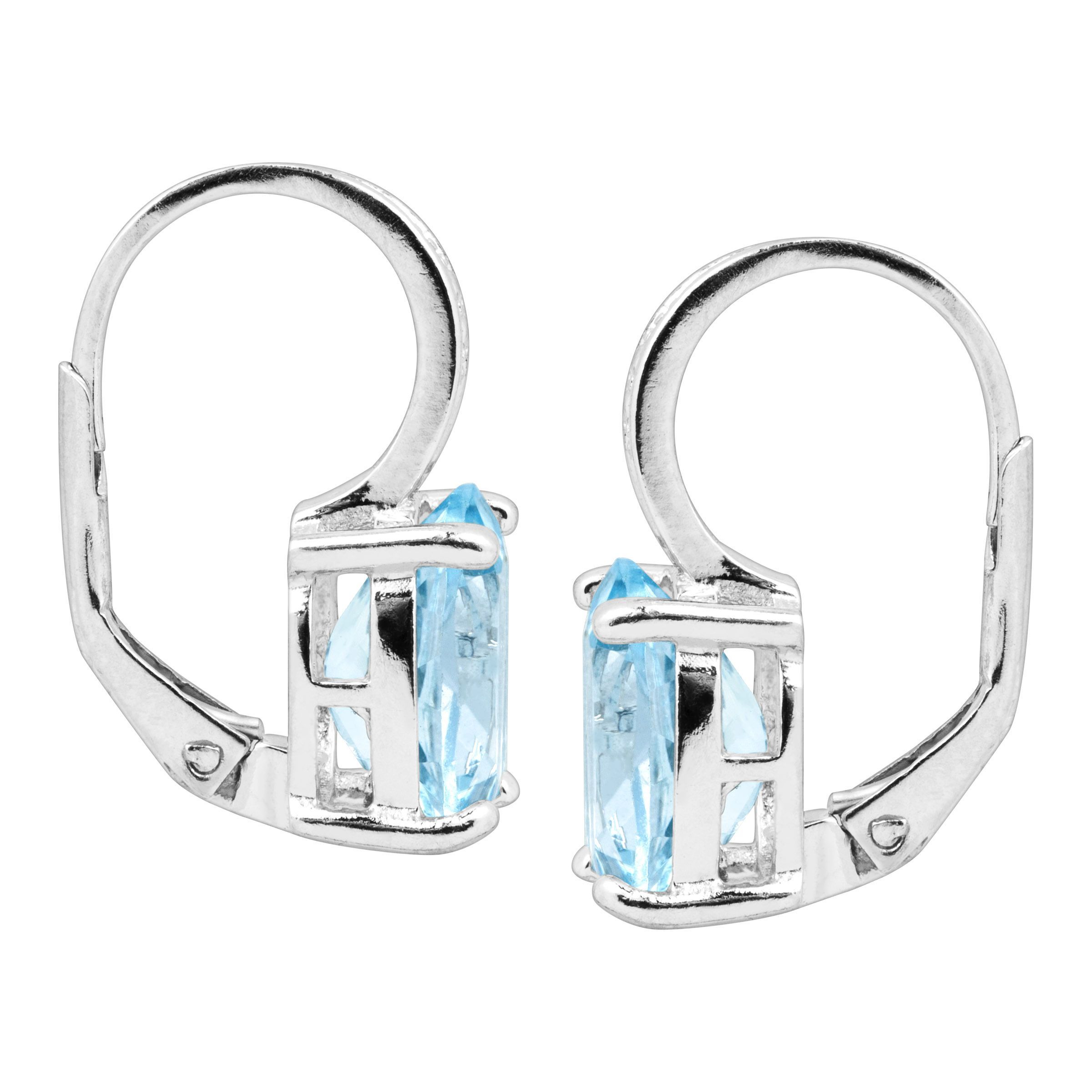 Natural-Gemstone-Drop-Earrings-with-Diamonds-in-Sterling-Silver thumbnail 13