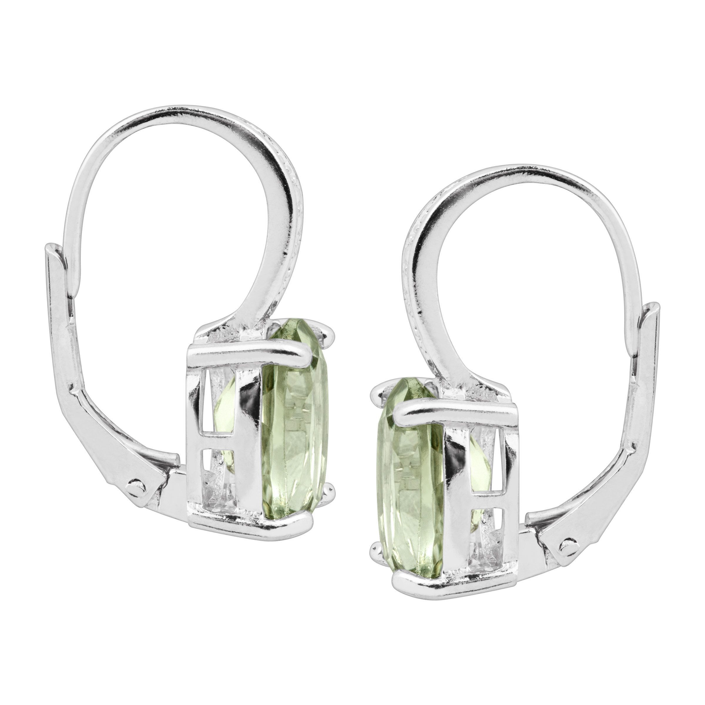 Natural-Gemstone-Drop-Earrings-with-Diamonds-in-Sterling-Silver thumbnail 31