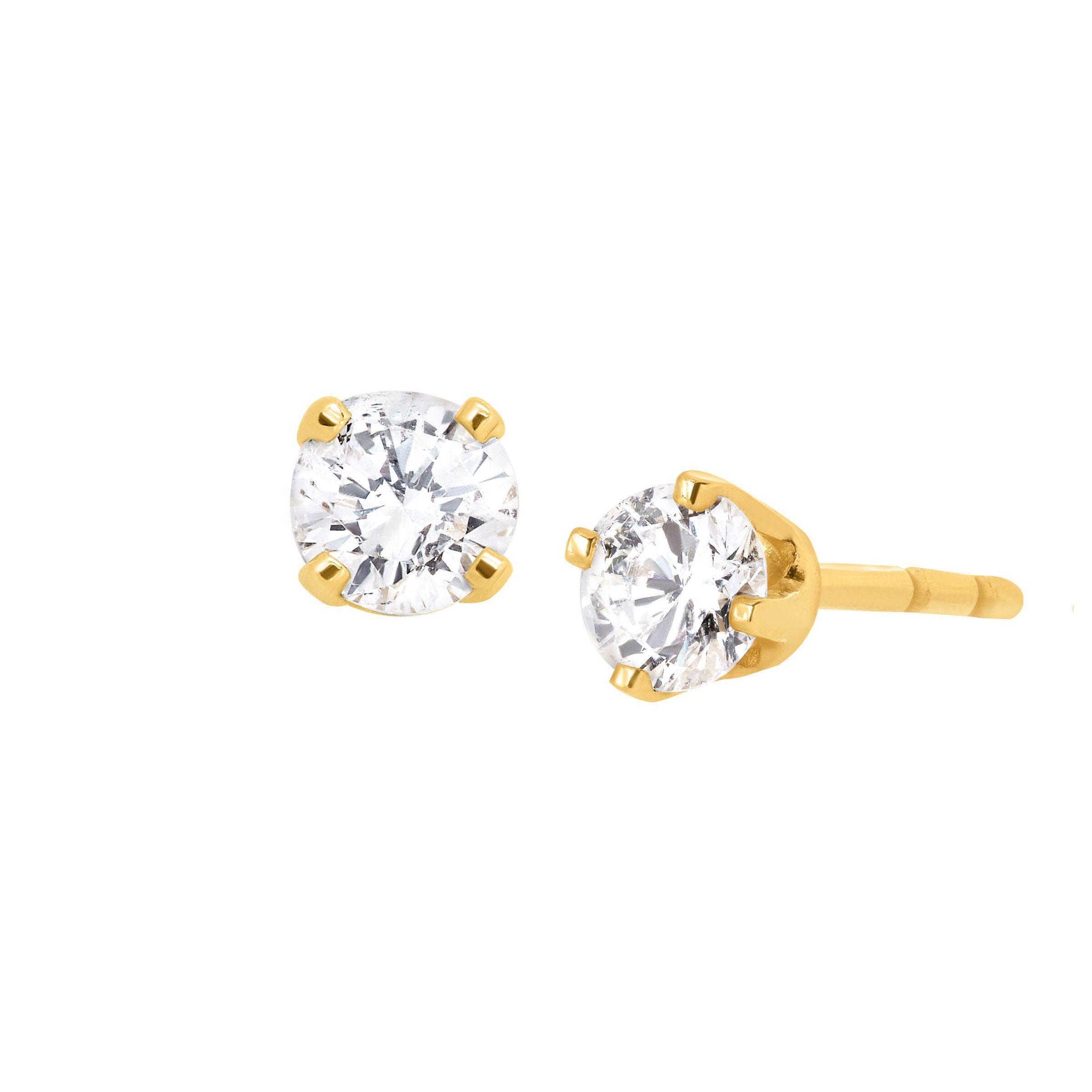 Diamond Teardrop Cluster Earrings 1//5ct 10k Yellow Gold