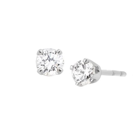 1/5 ct Diamond Stud Earrings, White