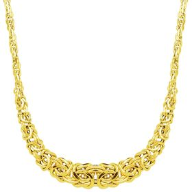 Graduated Byzantine Links Necklace, Yellow