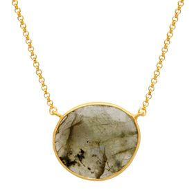 Labradorite Solitaire Necklace