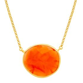 Carnelian Solitaire Necklace