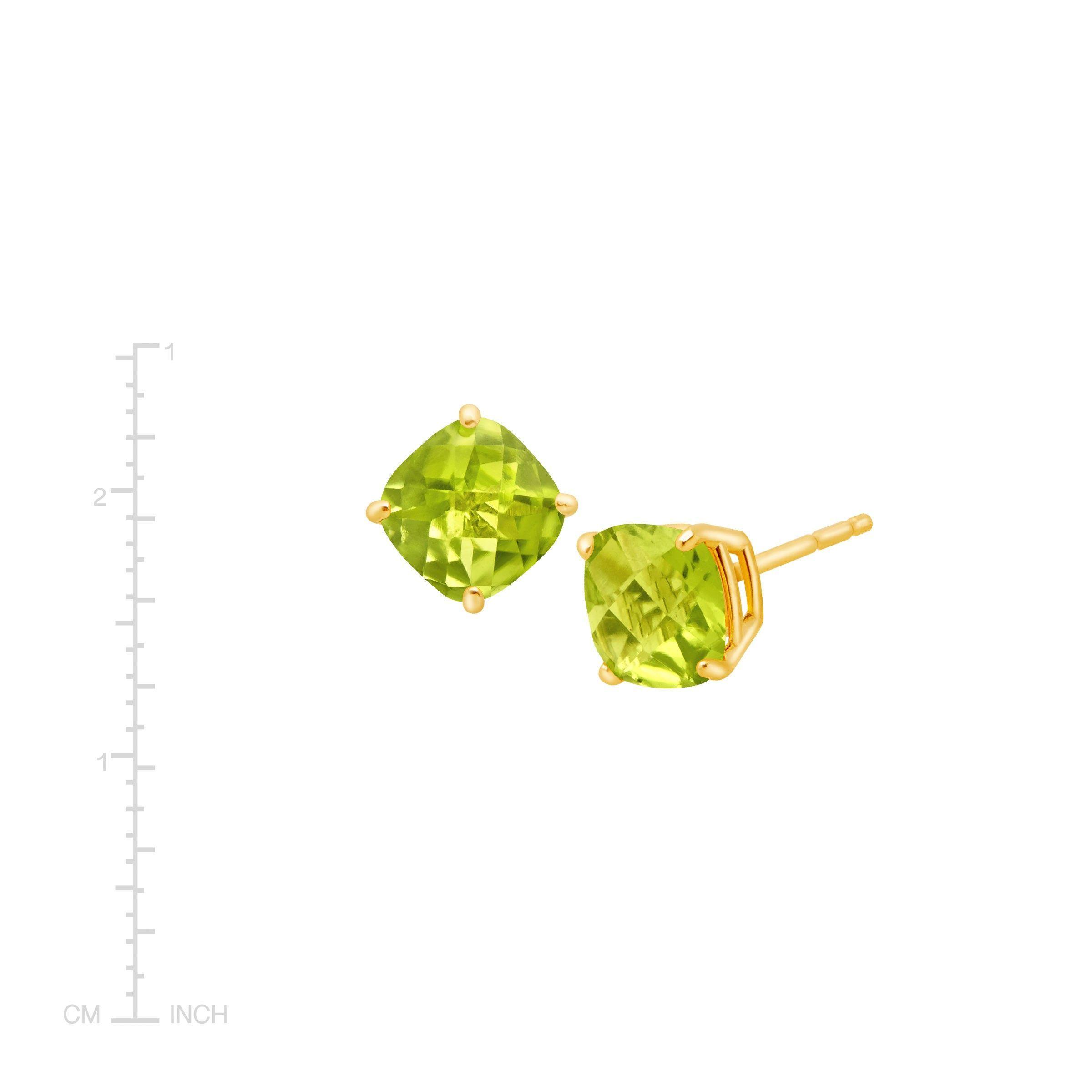 Cushion-Cut-Color-Stone-Stud-Earrings-in-14K-Gold thumbnail 33