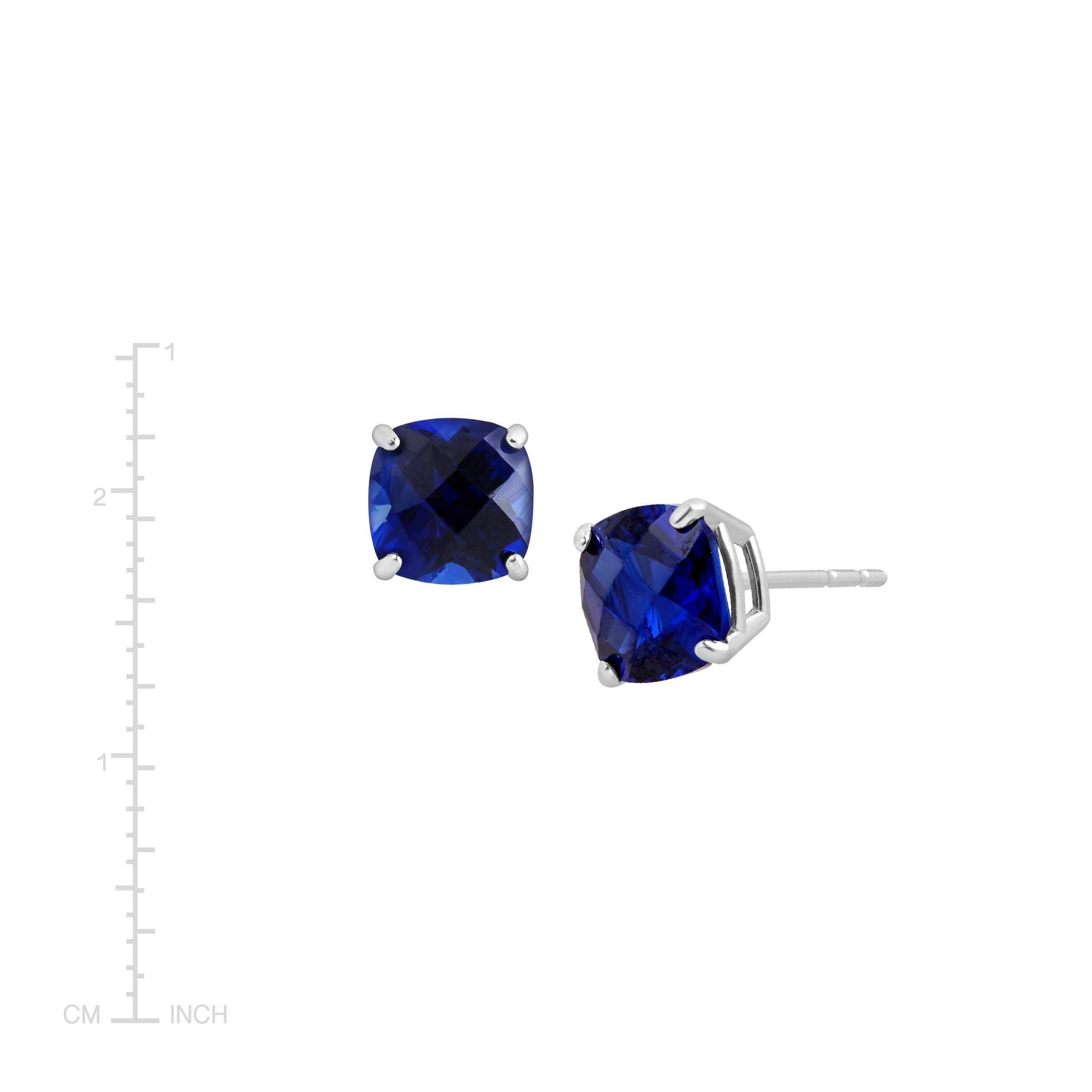 Cushion-Cut-Color-Stone-Stud-Earrings-in-14K-Gold thumbnail 43