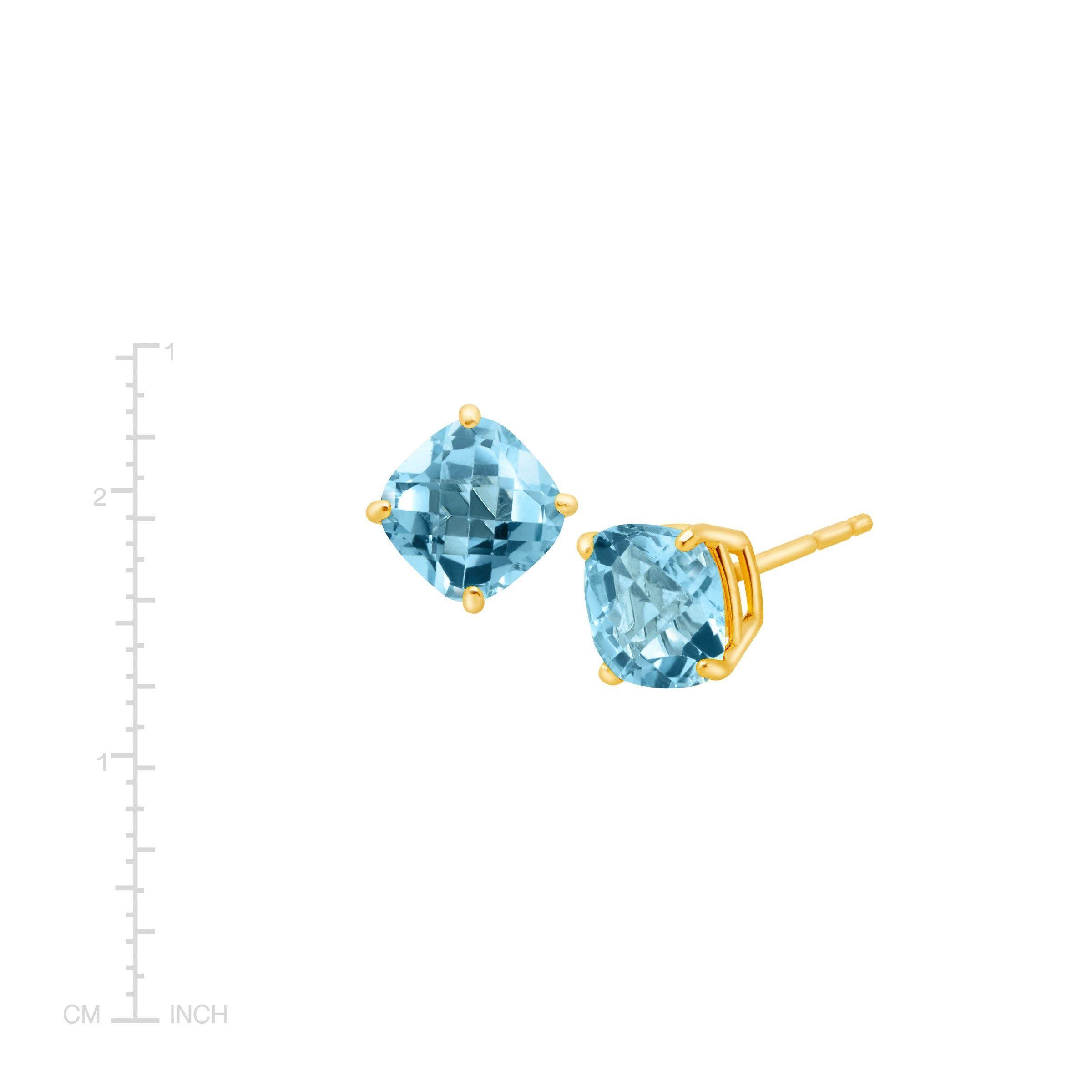 Cushion-Cut-Color-Stone-Stud-Earrings-in-14K-Gold thumbnail 48
