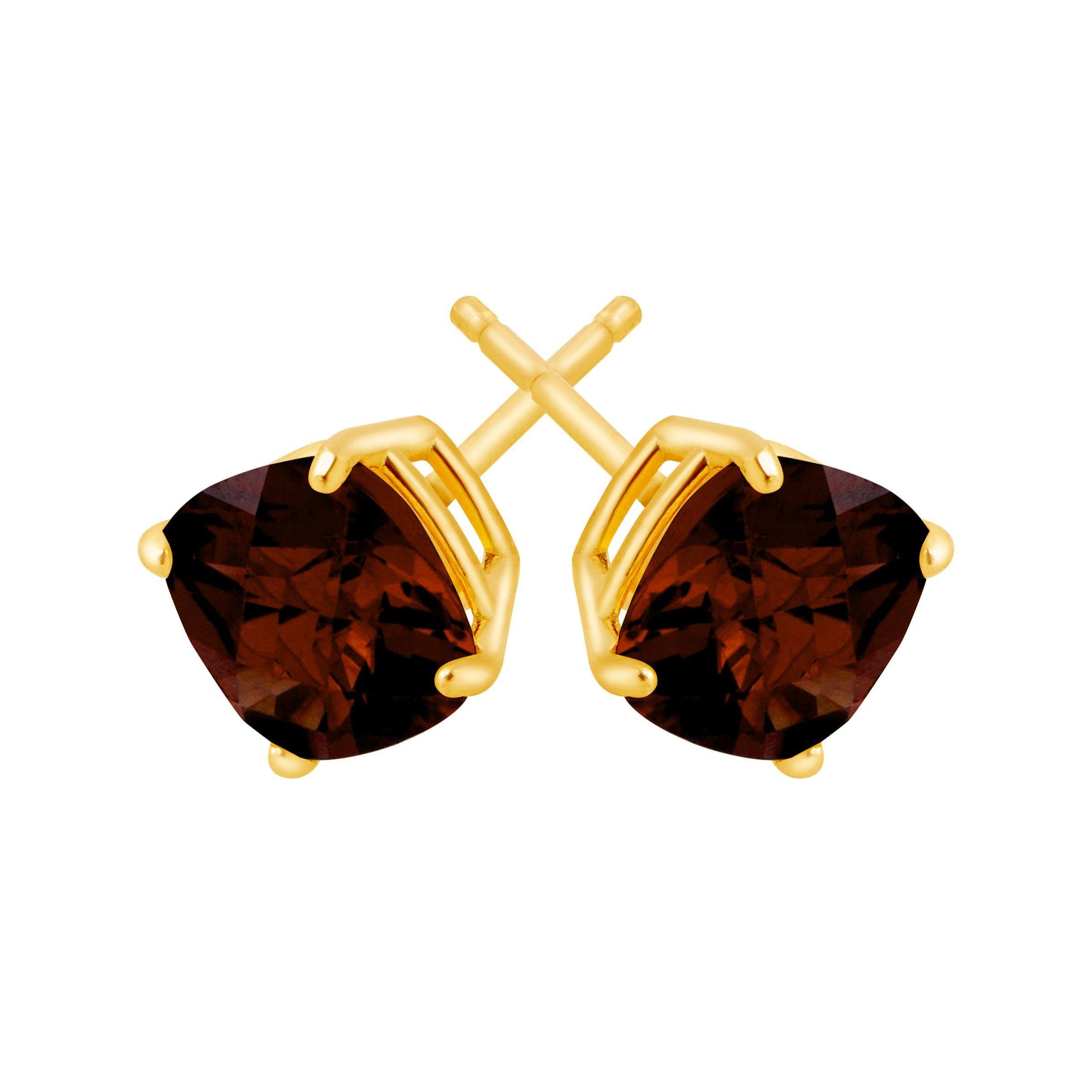Cushion-Cut-Color-Stone-Stud-Earrings-in-14K-Gold thumbnail 22