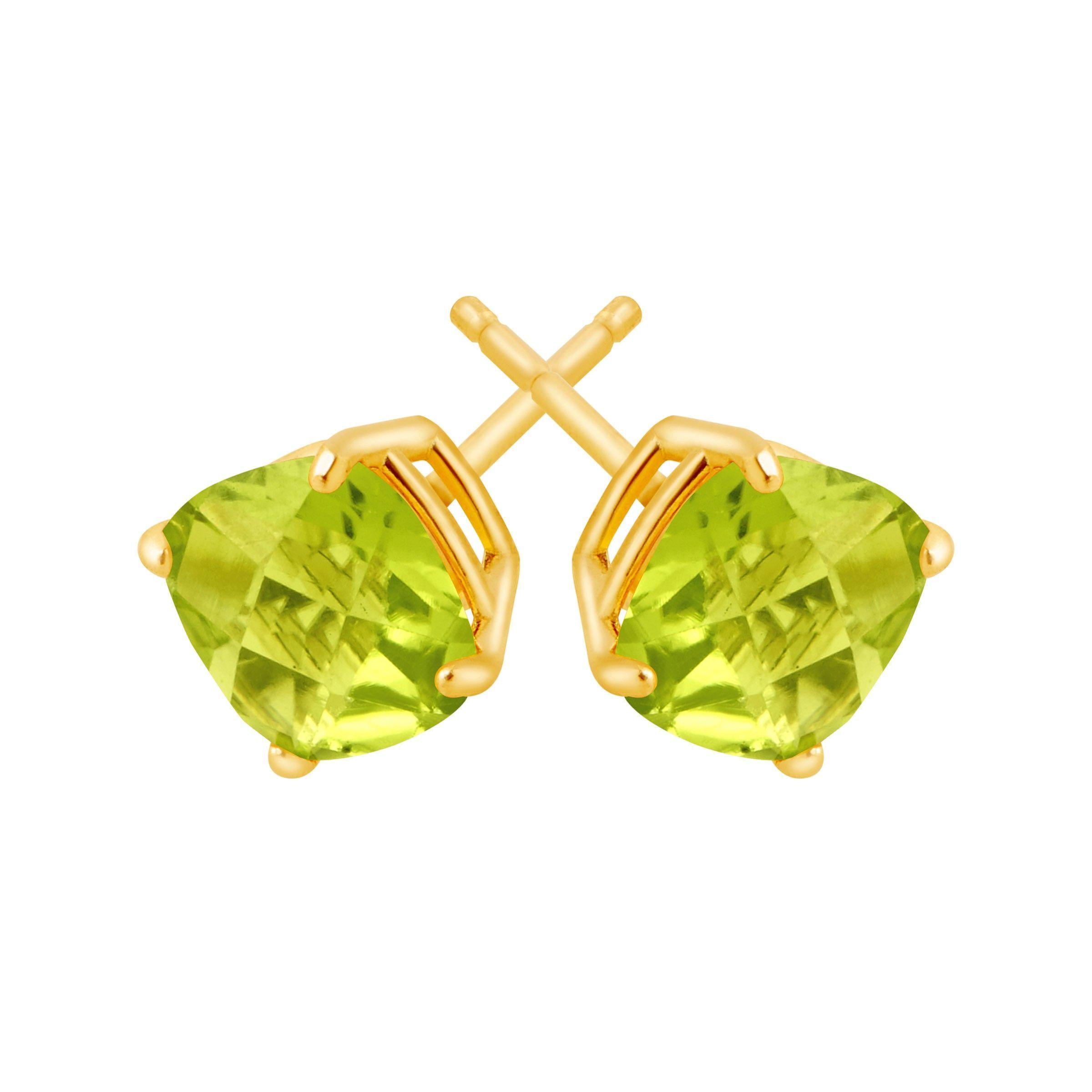Cushion-Cut-Color-Stone-Stud-Earrings-in-14K-Gold thumbnail 32