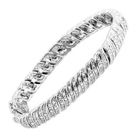 1 ct Diamond 'S' Link Tennis Bracelet, White