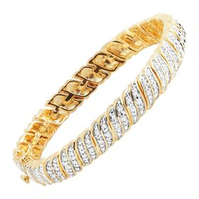 1 ct Diamond 'S' Link Tennis Bracelet, Yellow