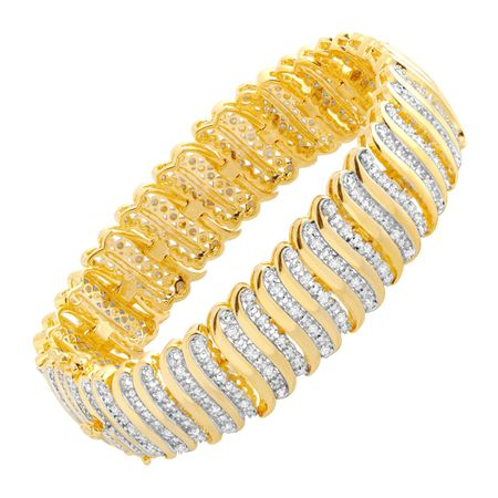 2 ct Diamond 'S' Link Tennis Bracelet, Yellow