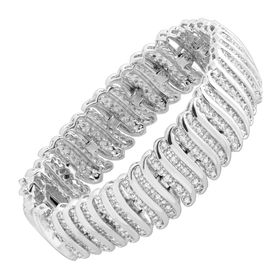2 ct Diamond 'S' Link Tennis Bracelet, White