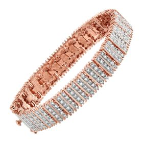 1 ct Diamond Box Tennis Bracelet, Rose