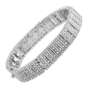 1 ct Diamond Box Tennis Bracelet, White