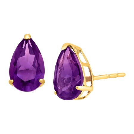 1 1/3 ct Pear-Cut Amethyst Stud Earrings