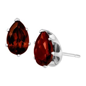 2 ct Garnet Pear-Cut Stud Earrings
