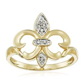 French Lily Flower Diamond Ring