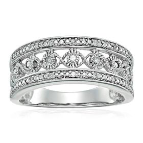 Anniversary Band Ring with Diamonds