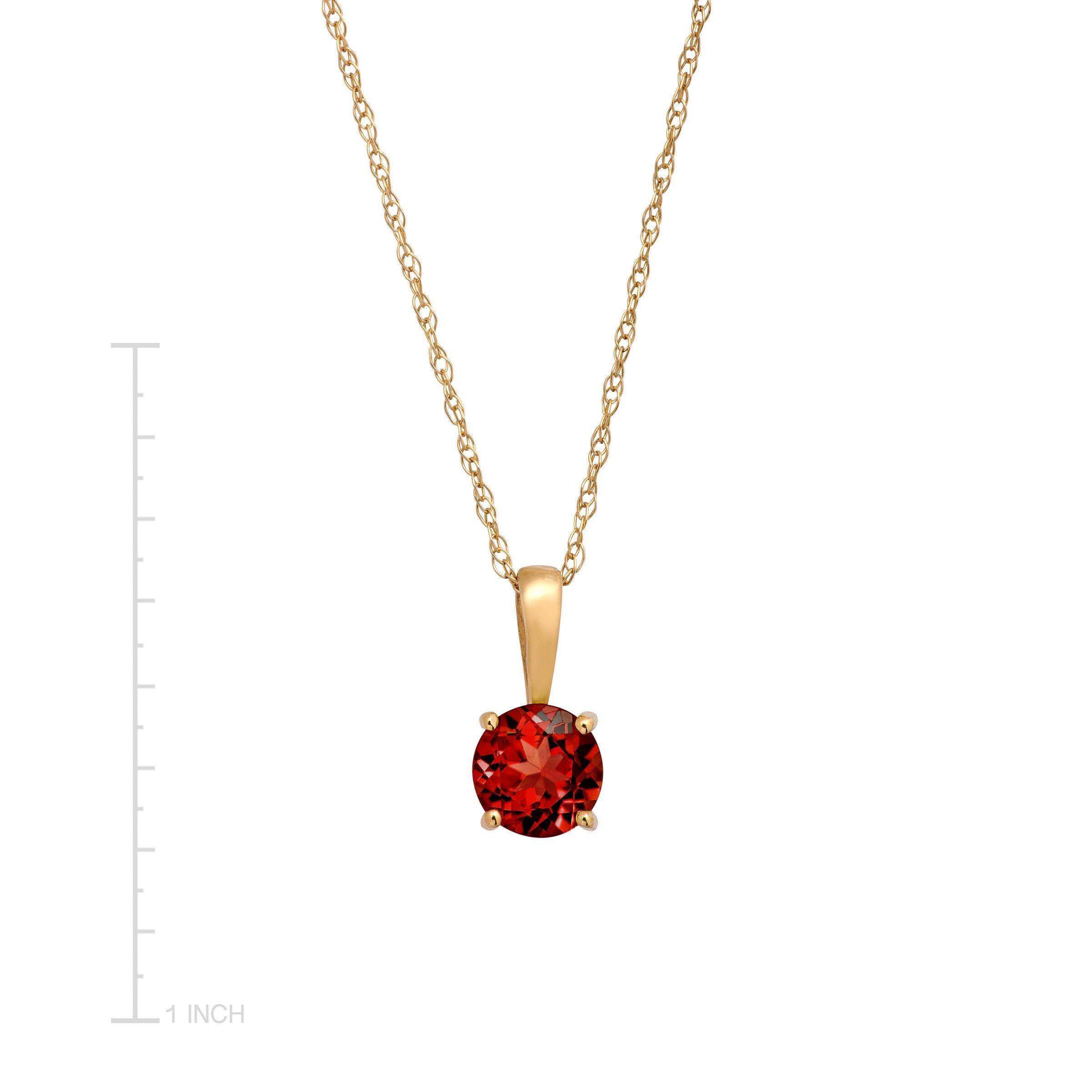 Round-Cut-Stone-Pendant-in-10K-Gold thumbnail 16