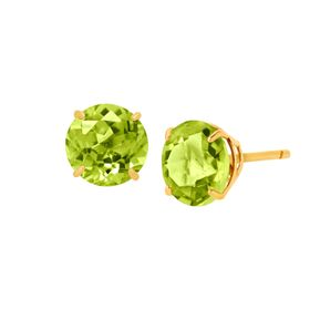 2 ct Peridot Round-Cut Stud Earrings