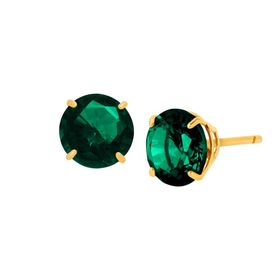 1 1/2 ct Emerald Round-Cut Stud Earrings