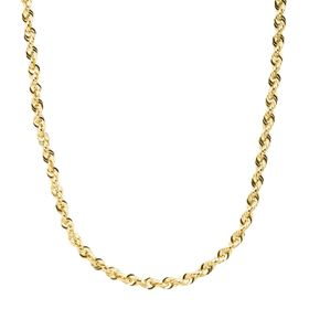 Men's Glitter Rope Chain Necklace, 18""