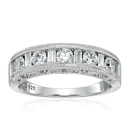 Anniversary Band Ring with Cubic Zirconia