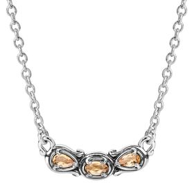 Simply Fabulous Citrine Three-Stone Smile Necklace