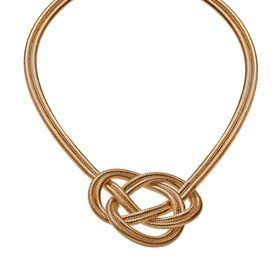 Woven Knot Necklace, Rose