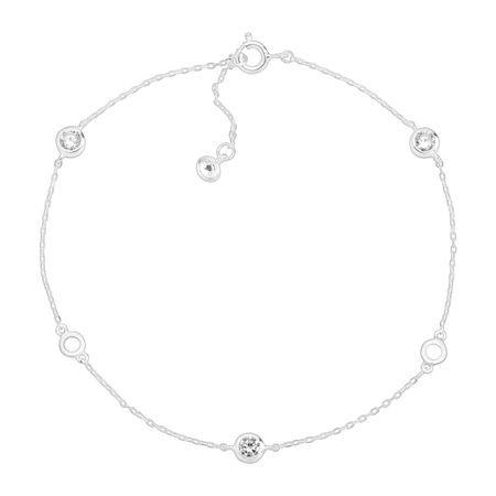 Clarity Serenity Anklet, White
