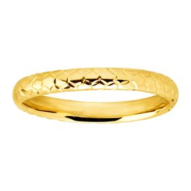 Honeycomb Band Ring, Yellow
