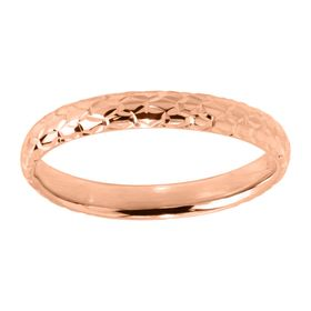 Honeycomb Band Ring, Rose