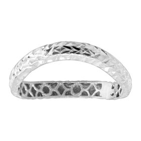 Wavy Band Ring, White