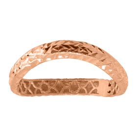 Wavy Band Ring, Rose
