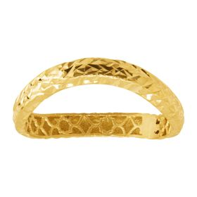 Wavy Band Ring, Yellow