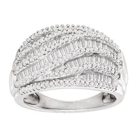 1 ct Diamond Wave Ring