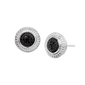 1/10 ct Black Diamond Stud Earrings