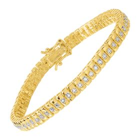 1/10 ct Diamond Line Bracelet, Yellow