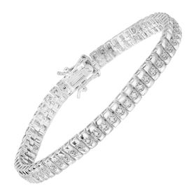 1/10 ct Diamond Line Bracelet, White