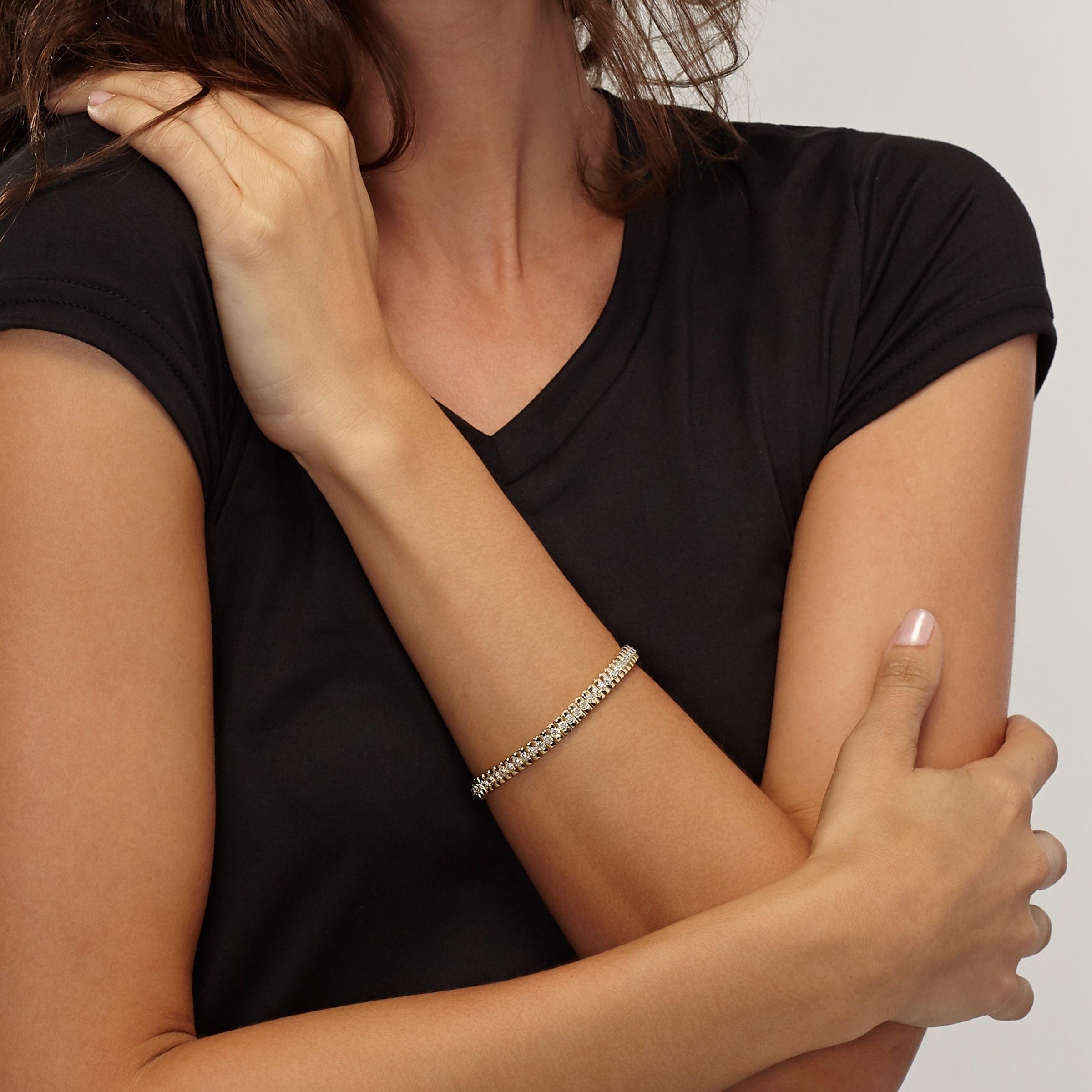 1-10-ct-Diamond-Line-Bracelet-in-Plated-Brass-7-25-034 thumbnail 13
